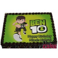 Ben10 Cartoon Photo Cake