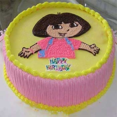 Dora Cartoon Cake