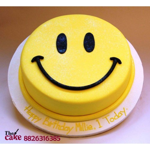 Emoji Smiley Face Cake