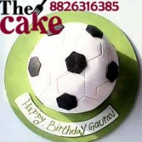 Football Shape Fondant Cake