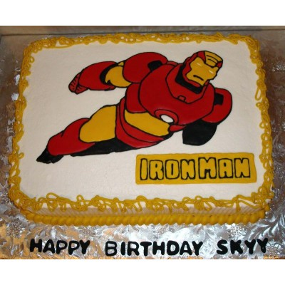 Iron Man Photo Cake