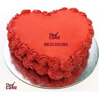 Heart Shape Red Roses Cake