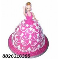 Barbie Doll Yummy Cake