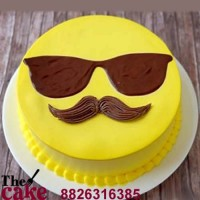 Dearest Dad Emoji Face Cake