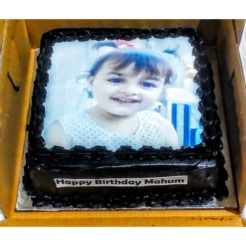Cutie Chocolate Photo Cake