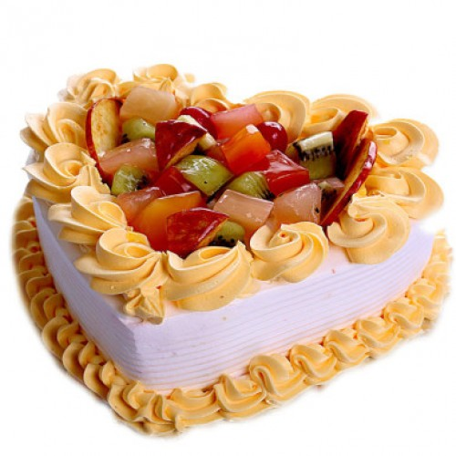 Fruit Heart Cake