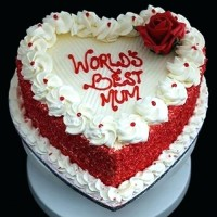 Beautiful Heart Cake