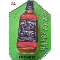 Jack Daniels Whiskey Bottle Cake