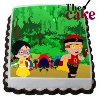 Mighty Raju Friends Cartoon Photo Cake
