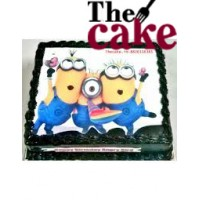 Minions Cartoon Photo Cake